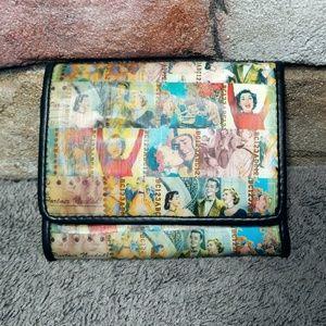 Relic Retro Holographic Print Tri Fold Wallet